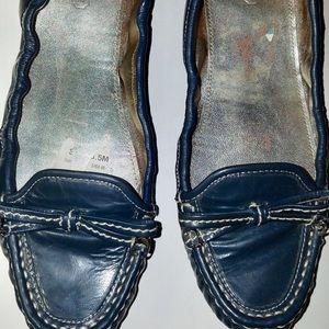 Coach Isabelle Blue Patent Shoes